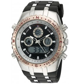 U.S. Polo Assn. Sport Masculino Quartz Metal and Rubber Casual Watch