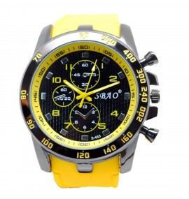 Relógio Masculino Sport Amarelo SMT