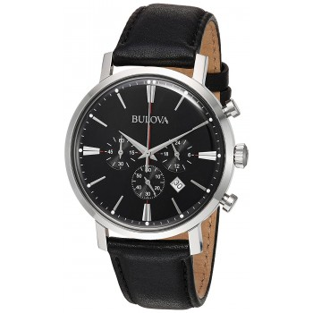Relógio Masculino Quartz Stainless Steel and Leather Casual