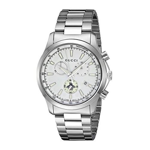 554aba8ffe2ac Relógio Masculino Gucci Aço Inoxidável Prata Quartz (Model  YA126472 ...