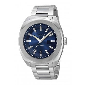 Relógio Masculino Gucci Quartz Aço Inoxidável Prata (Model: YA142205)