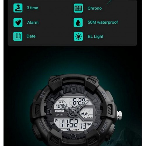 cd54567866c Relógio Sport Militar LED Display