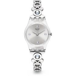 Relógio Feminino Swatch Steel Bracelet Plastic Case Quartz Silver