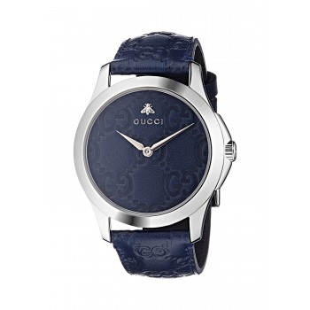 Relógio Feminino Gucci Quartz aço inoxidável and Leather Casual Azul (Model: YA1264032)