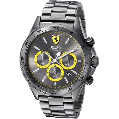 fe4502a09d2 Relógio Masculino Cinza Scuderia Ferrari PILOTA Compra24h