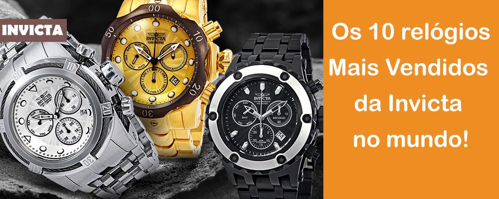 dd090e95c51 A Invicta é conhecida por fabricar relógios suíços e japoneses de alta  qualidade com diversas linhas e modelos para qualquer ocasião e estilo.