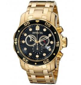 c80310b32b7 Relógio Invicta 0072 Pro Diver Banhado a Ouro 18k