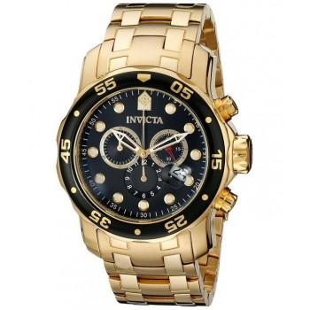 Relógio Invicta 0072 Pro Diver Banhado a Ouro 18k